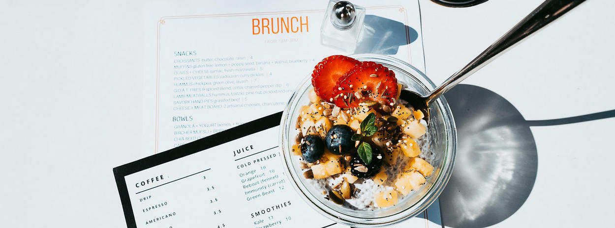 Goat Tree Brunch Menu and Chia Seed Pudding