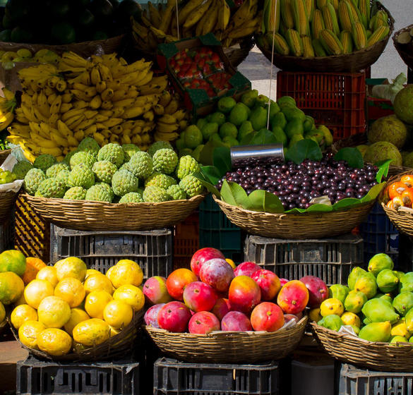 Fresh produce at a farmers' market