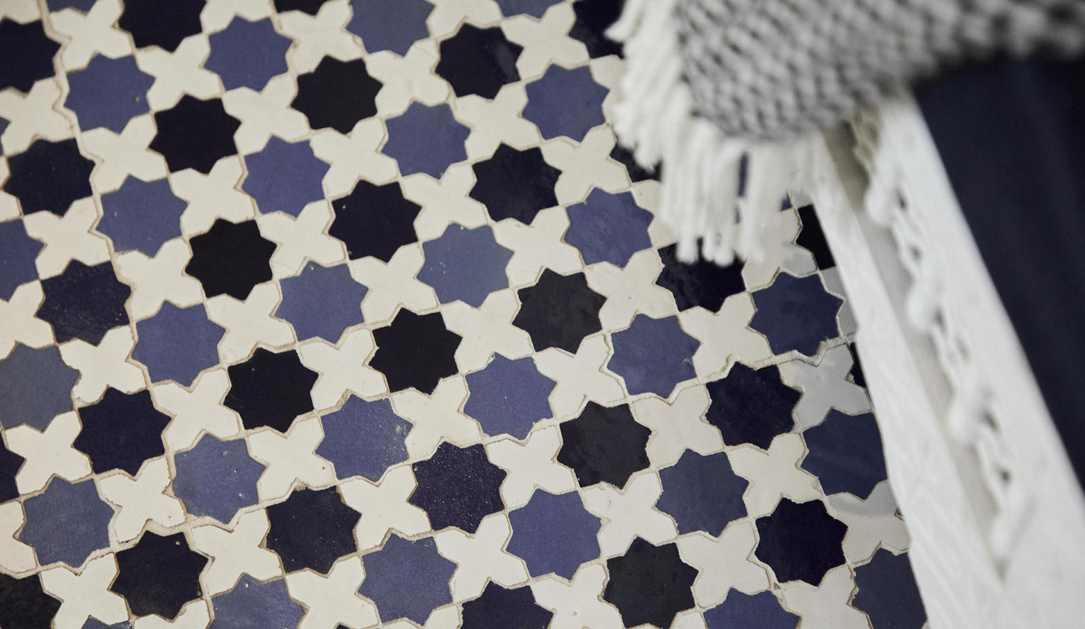 Hand-Painted Moroccan Tile Flooring
